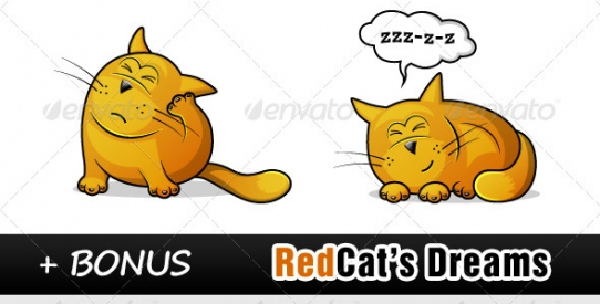 Red Cat Character