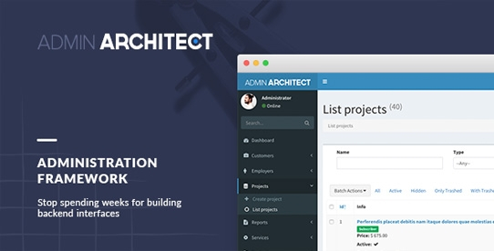 Admin Architect - Based on Laravel