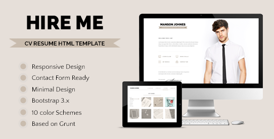 Hireme <br> Responsive Resume Template